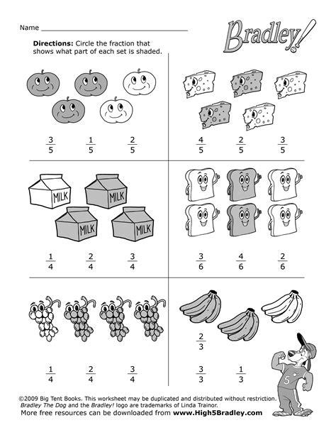 19 best images of 2nd grade math fractions worksheets