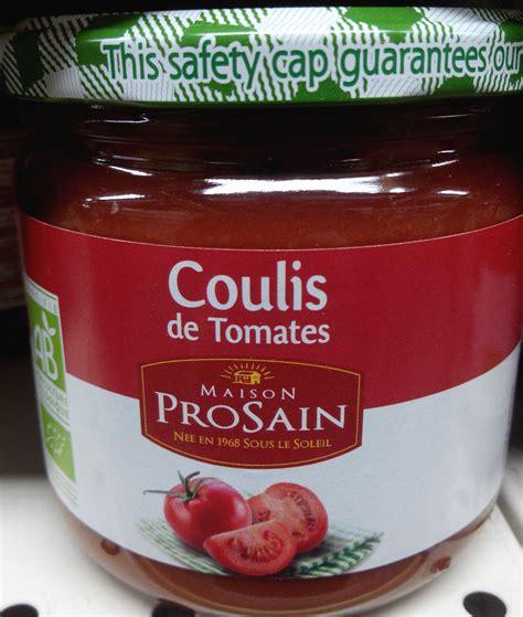 coulis de tomate maison coulis de tomates maison prosain 355 g