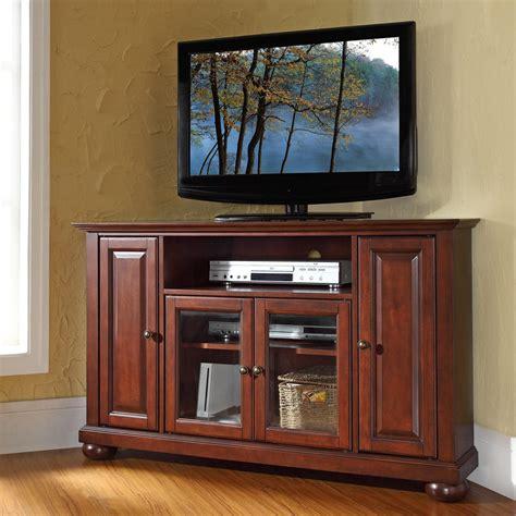 mahogany tv cabinet with doors vintage mahogany 48 inch corner tv stand from hearts attic