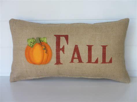 fall throw pillows burlap fall pillow pumpkin pillow fall decorative throw
