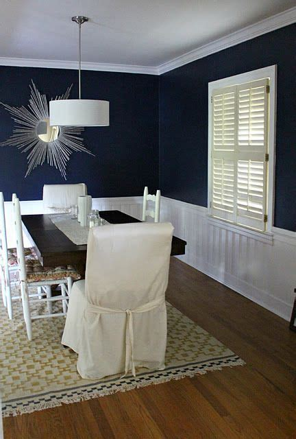 Ideas Navy Blue Walls by Navy Blue Wall Color For Dining Room Room In 2019