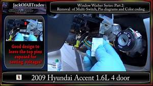 2009 Hyundai Accent Window Washer Series  Part2  Removal