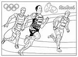 Coloring Olympic Games Rio Athletics Adult Olympics Pages Sport sketch template