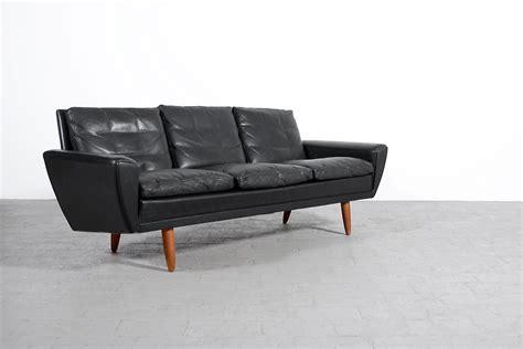 canapé scandinave vintage canapé scandinave vintage cuir noir 1960 jasper