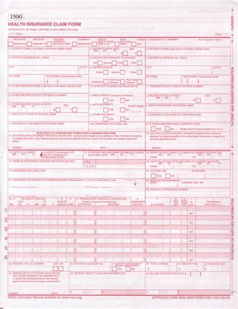 Free Cms 1500 Claim Form Template 1500 claim form template free free mastercasting