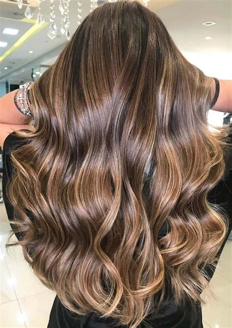brunette balayage hair colors highlights