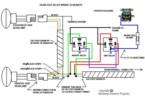 Relay Headlight Wiring Diagram by Upgrading Headlights Vintage Mustang Forums