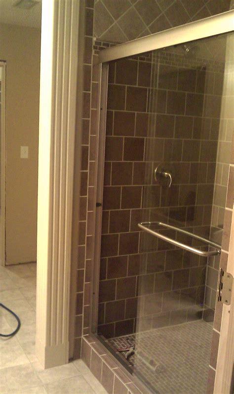 In Shower by Walk In Shower With Frameless Glass Sliding Shower Door