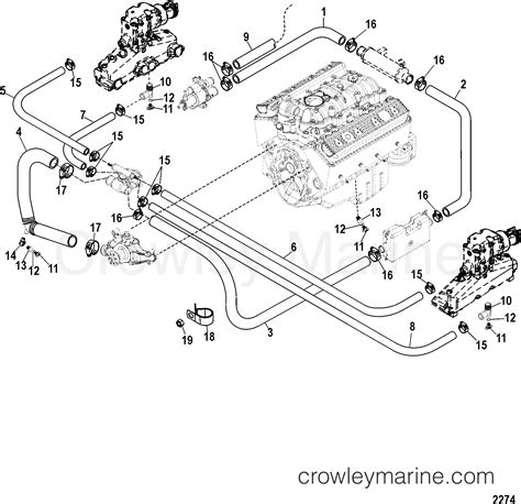 Boat Engine Cooling Diagram by Standard Cooling System Manual Drain 1998 Mercury