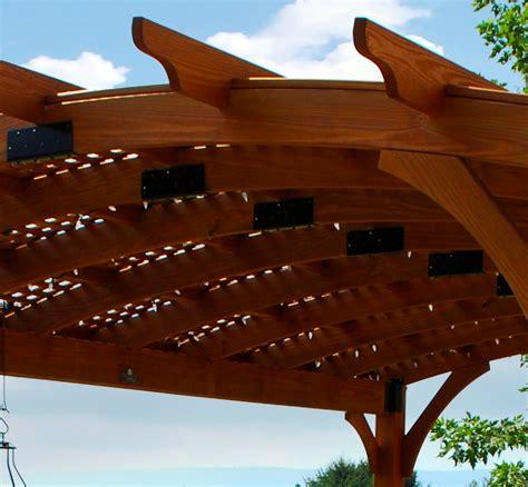 arched wood pergolas vinyl pergolas ny ct