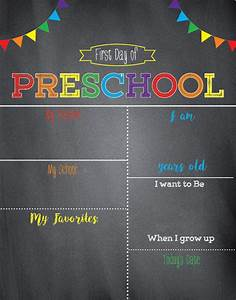 24 colorful first day of school signs kitty baby love With first day of school sign template