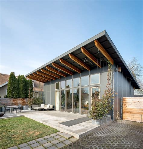 Shed Style House by Modern Shed Roof House Designs Homens Design Cabin Water