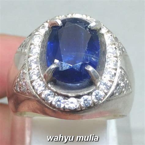 cincin batu permata royal blue kyanite safir australi asli