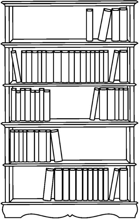 bookshelf picture coloring pages  place  color