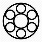 Bearing Ball Icon Rotary Motorbike Parts Outline