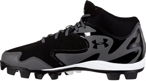 armour leadoff mid  adult molded baseball cleat