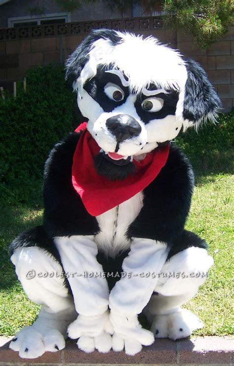 cool homemade border collie dog costume halloween