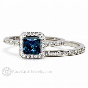 london blue topaz diamond halo engagement ring and wedding With blue topaz wedding rings