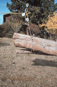 mini skyline  homemade yarder  bring firewood