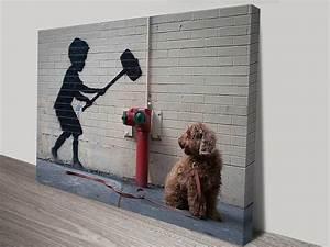 Banksy Hammer Boy Canvas Print Australia