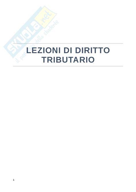 dispensa di diritto tributario riassunti di diritto tributario