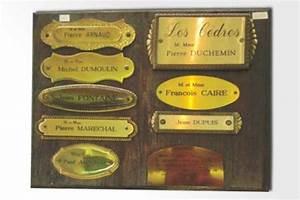 Plaque Boite Aux Lettres Adhesive : plaques de portes et boites aux lettres personnalis es alpes gravure ~ Melissatoandfro.com Idées de Décoration