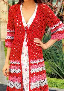 Crochet En S : tejidos artesanales en crochet chaleco largo con mangas ~ Nature-et-papiers.com Idées de Décoration