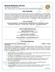Sample Art Instructor Resume Literature Review And
