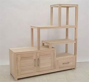 Meuble Bois Brut : meuble escalier double face ahor 4966 ~ Teatrodelosmanantiales.com Idées de Décoration