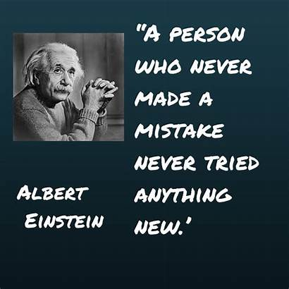 Trying Things Quotes Quote Einstein Mistakes Famous