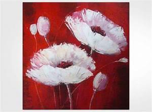Tableau Fleurs Moderne : tableau moderne fleur rouge ~ Teatrodelosmanantiales.com Idées de Décoration