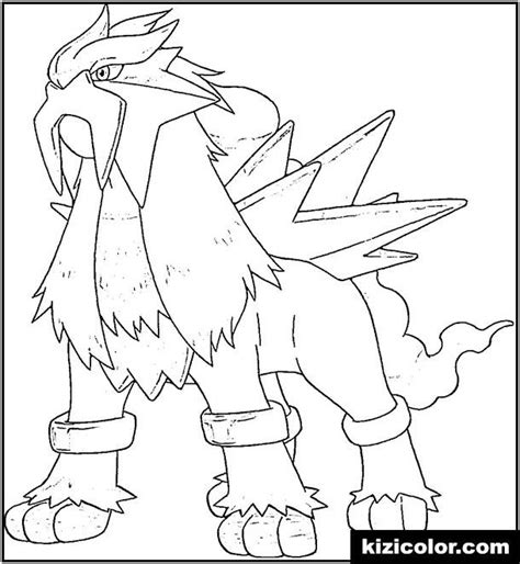 entei coloring pages coloring home