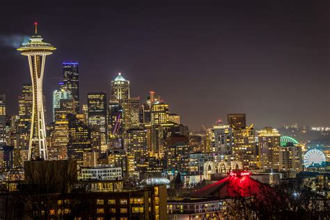 Long Exposure of Seattle Skyline - OC (6000X4000 ...