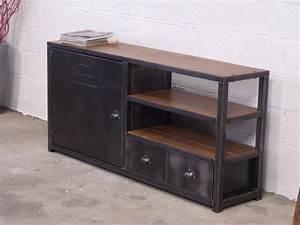 Meuble Industriel But : meuble de rangement design industriel ~ Teatrodelosmanantiales.com Idées de Décoration