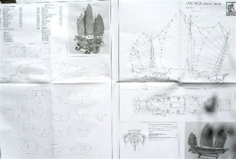 chinsese pirate junk amati model ship plans modelers