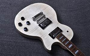 Mahogany Body Unfinished Electric Guitar Kit With Flamed Maple Top With Dual Humbuckers From