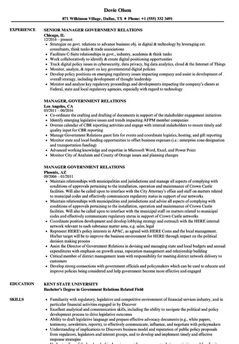 Government Resume by Air Import Export Government Contemporary