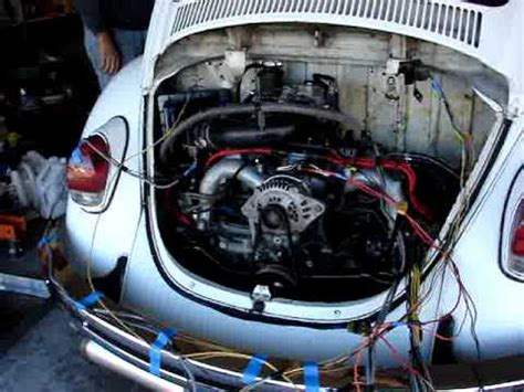 subaru boxer engine in vw beetle video 1967 vw splitscreen with 2 2 subaru boxer engine