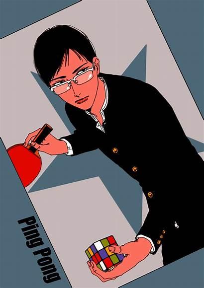Tsukimoto Makoto Ping Pong Animation Zerochan Anime