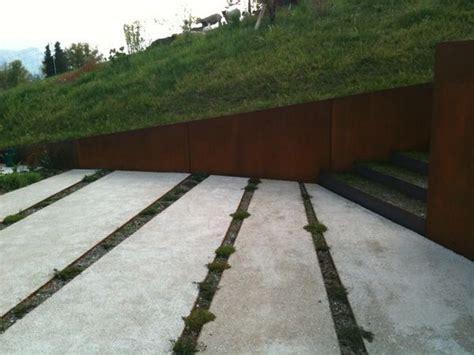 corten retaining wall corten retaining walls with in situ cast concrete