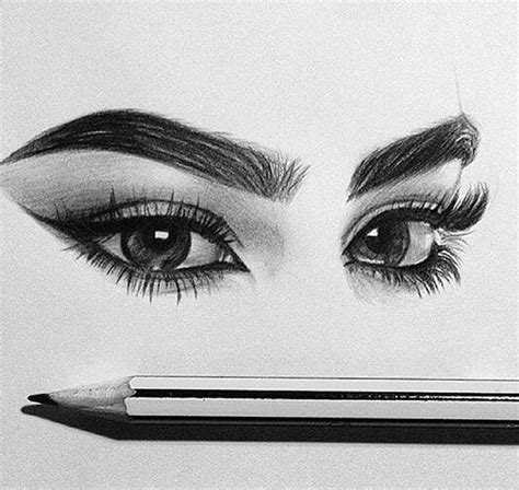 eye eyebrows pencil sketch image   lucialin
