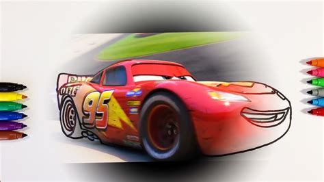 cars  lightning mcqueen race coloring pages