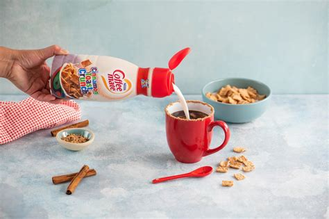 The cinnamon toast crunch creamer has cinnamon. This new coffee creamer was inspired by one of the best cereals of all time