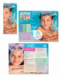 swimming lessons instruction tri fold brochure template With instruction leaflet template