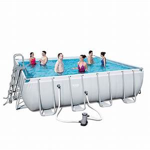 Garten Pool Bestway : bestway swimmingpool set power steel square 488 x 488 x 122cm super discount ~ Frokenaadalensverden.com Haus und Dekorationen