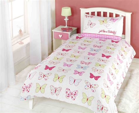 Girls Childrens Quilt Duvet Cover & Pillowcase Bedding Sets Or Matching Curtains Linen Stripe Curtain Panels Wall Spider System How To Install Valance Over Curtains Make Simple Lined Green For Living Room Plastic Door Strip Wilko Design Small Bedroom Blackout Diy