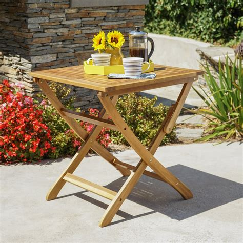 versaille outdoor foldable grey finished acacia wood