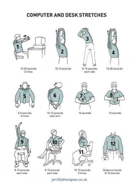 neck exercises at your desk computer and desk stretches fitness and health desk