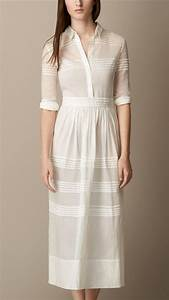 25 best ideas about cotton shirt dress on pinterest With robe burberry femme