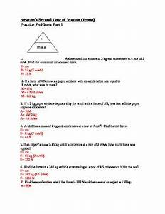 Newton U0026 39 S Second Law Of Motion Practice Problems By Paige